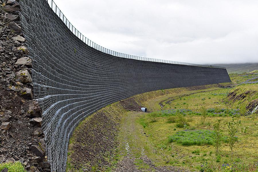 snjóflóðavarnagarður í Neskaupsstað